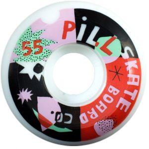 ruedas skate pill papper cuts 55mm